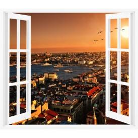 Pencereden İstanbul Manzarası