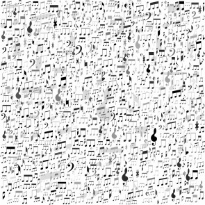 Müzik Nota ve Terimleri - Üç Boyutlu Duvar Kağıtları