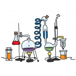 Kimyasal Deneyler 3 Boyutlu Duvar Kağıdı