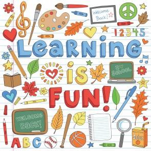 Öğrenmek Güzeldir Okul Kreş Duvar Kağıdı Modeli