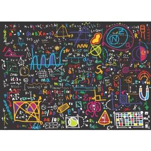 Renkli Formüller Kreş Okul Ofis Duvar Kağıdı