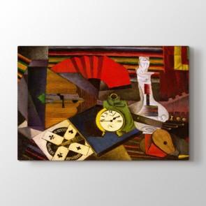 The Alarm Clock - Yağlı Boya Resimli Kanvas Tablo Modeli
