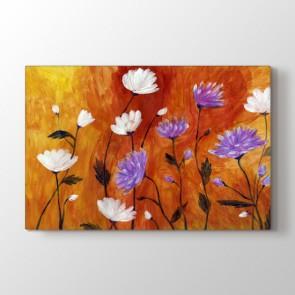 Flowers - Yağlı Boya Dekoratif Duvar Tablosu