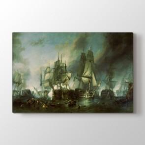 The Battle Of Trafalgar - Yağlı Boya Kanvas Tablosu