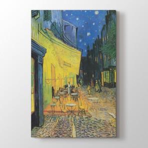 Cafe Terrace - Yağlı Boya Duvar Dekoru Kanvas Tablo