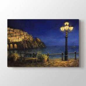 Sokak Lambası - Yağlı Boya Duvar Dekoru Kanvas Tablo