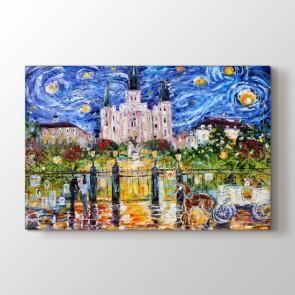 Jackson Meydanı - Yağlı Boya Resimli Kanvas Tablo Modeli