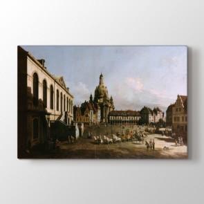 Orta Çağ - Şehir Resimli Kanvas Tablo Modeli