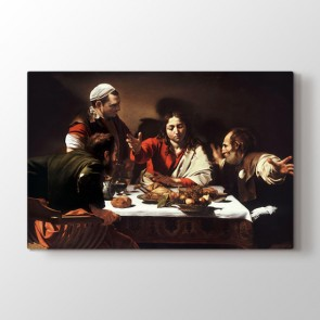 Supper At Emmaus By Caravaggio - Yağlı Boya Resimli Tablo Modeli