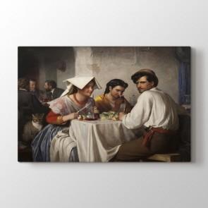 Roman Sofrası - Yağlı Boya Dekoratif Duvar Tablosu