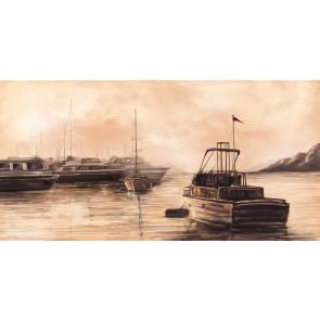 Karakalem Marina - Üç Boyutlu Duvar Kağıtları