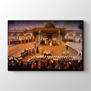 Osmanlı Avluda Merasim - Osmanlı Duvar Tablosu