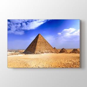 Piramitler - Şehir Duvar Dekoru Kanvas Tablo