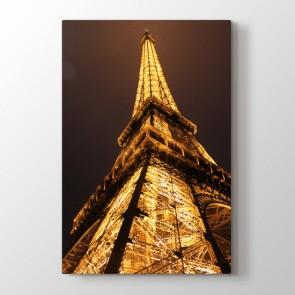 Eiffelin Işıkları - Şehir Duvar Dekor Kanvas Tablo