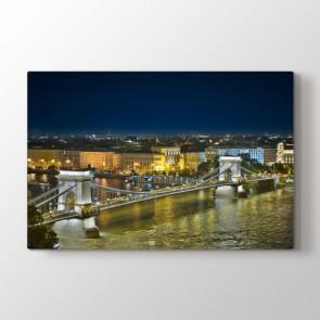 Budapeşte - Şehir Duvar Dekoru Kanvas Tablo