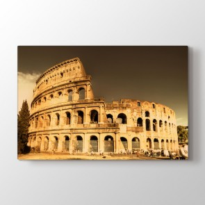 Roma Kolezyum - Şehir Resimli Kanvas Tablo Modeli