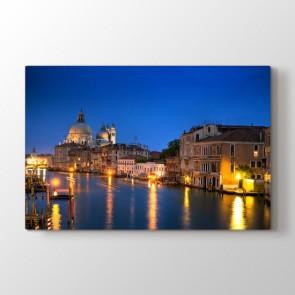 Venedik Gecesi - Şehir Dekoratif Duvar Tablosu