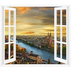 Penceremden Verona Duvar Kağıdı