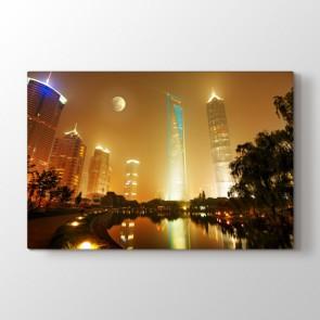 Gece Görüşü - Şehir Resimli Tablo Modeli