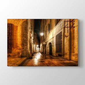 Ara Sokak - Şehir Duvar Dekor Kanvas Tablo