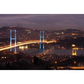 Işıl Işıl Boğaz Köprüsü - 3 Boyutlu Duvar Kağıdı Modeli