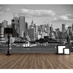 Siyah Beyaz Şehir Manzarası