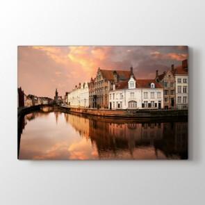 In Bruges - Şehir Kanvas Tablosu