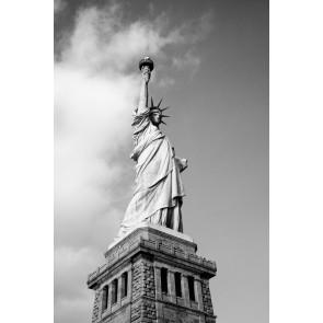 Siyah Beyaz Özgürlük Heykeli 3 Boyutlu Duvar Kağıdı
