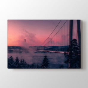 Bulutlu Köprü Tablosu | Salon Için Duvar Tabloları