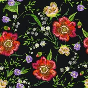 Özel Çiçekler 3 Boyutlu Çiçek Desenli Çiçekli Duvar Kağıdı