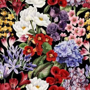 Çiçeklerin Büyüsü 3 Boyutlu Çiçek Desenli Çiçekli Duvar Kağıdı