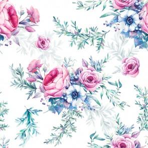 Gül Kokusu 3 Boyutlu Çiçek Desenli Çiçekli Duvar Kağıdı