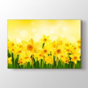 Güneş ve Çiçekler Tablosu | Çiçek Desenli Tablolar