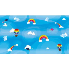 Kuşlar ve Balonlar Çocuk Odası Duvar Kağıdı Önizleme