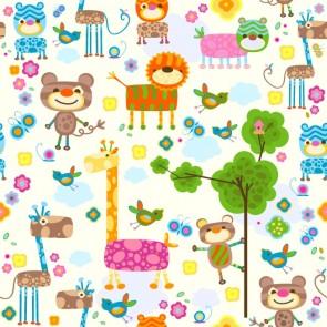 Renkli Rüyalar Bahçesi Çocuk Odası Duvar Kağıdı Önizleme