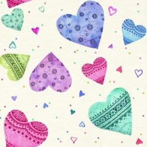 Renkli Kalpler Çocuk Odası Duvar Kağıdı Önizleme