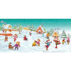 Kar Yağınca Çocuk Odası Duvar Kağıdı Önizleme