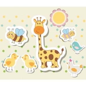 Tatlı Hayvanlar 3 Boyutlu Çocuk Odası Duvar Kağıdı