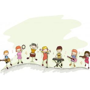 Çocuk Orkestrası Çocuk Odası Duvar Kağıdı Modeli