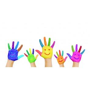 Neşeli Eller - Kreş ve Çocuk Odası Duvar Kağıdı Modeli