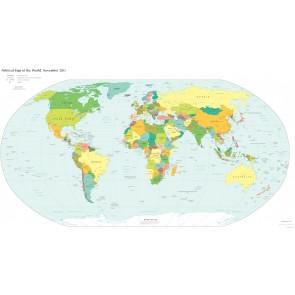 Siyasi Dünya Haritası Duvar Kağıdı