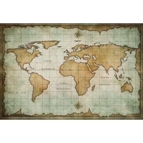 Okyanus Atlası Harita Duvar Kağıdı