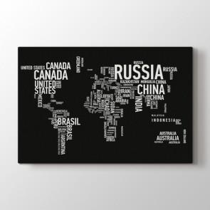 Ülkeler - Ofis Dekoratif Duvar Tablosu