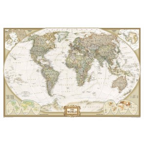 Dekoratif Dünya Haritası Duvar Kağıdı Önizleme