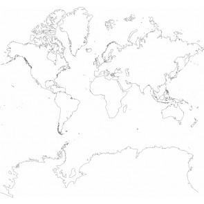 Kara Kalem Dünya Haritası Duvar Kağıdı Önizleme