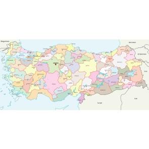 Türkiye Haritası - Resimli Duvar Dekorasyonu