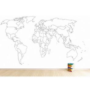 Boyanabilir Dünya Haritası
