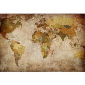Tarz Dünya Haritası 3 Boyutlu Duvar Kağıdı