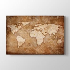 Kazınmış Dünya Haritası Tablosu | Harita Tablo