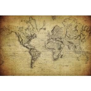 1814 Dönemi Dünya Haritası 3 Boyutlu Resimli Duvar Kağıdı